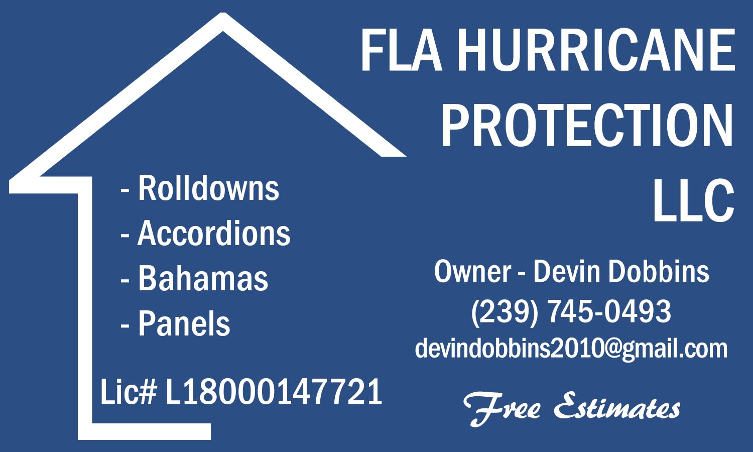 FLA Hurricane Protection logo